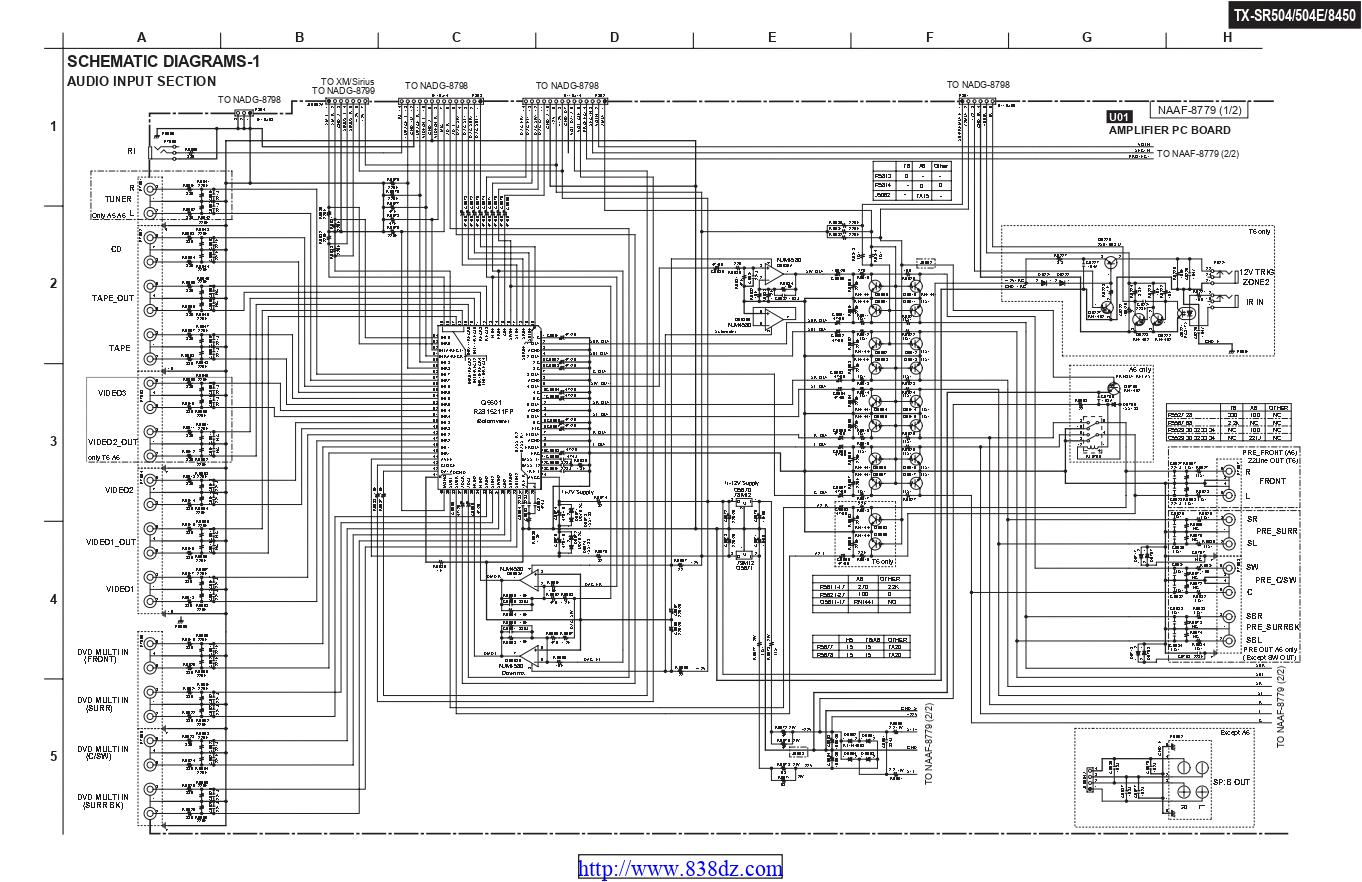 Onkyo安桥TX-SR8450功放维修电路图纸