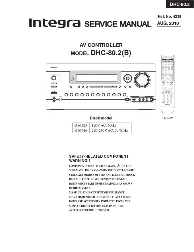 INTEGRA DHC-80.2 AV前置放大器维修手册