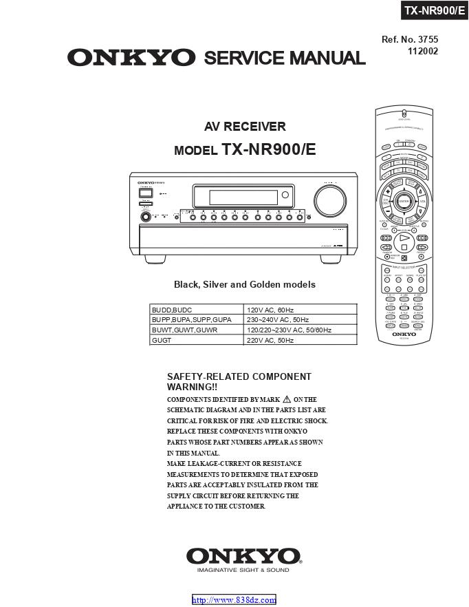 安桥Onkyo TX-NR900 AV功放电路图