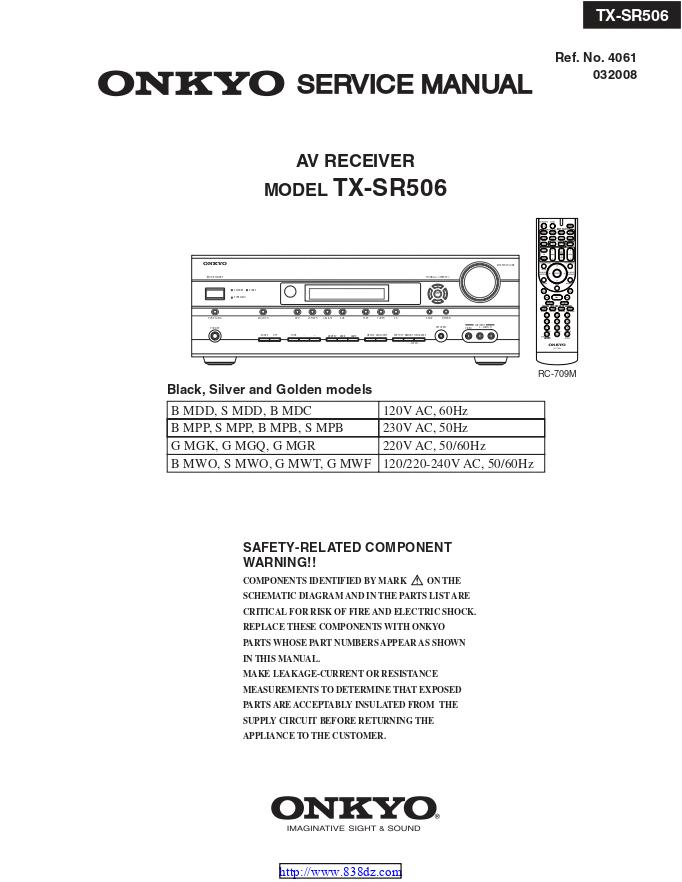 安桥Onkyo TX-SR506 AV功放电路图