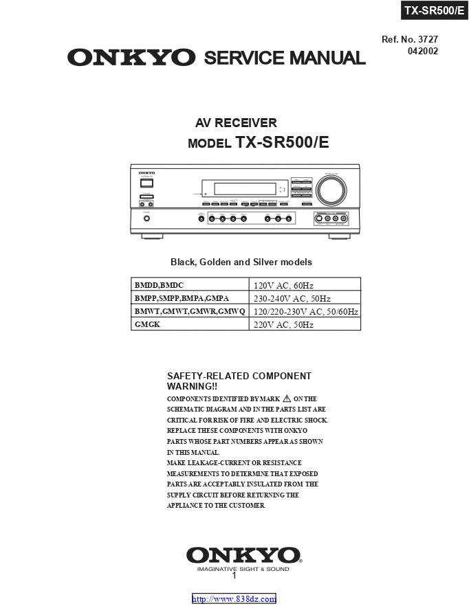 安桥Onkyo TX-SR500 AV功放电路图