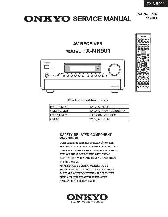 安桥Onkyo TX-NR901 AV功放电路图