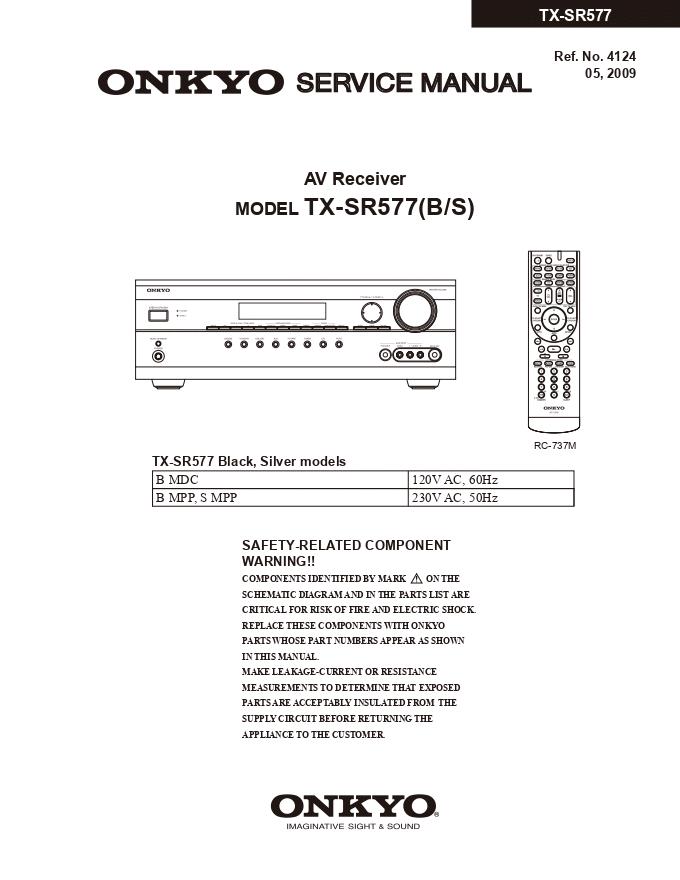 ONKYO安桥TX-SR577功放维修手册