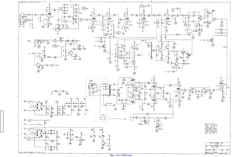 PEAVEY百威5150 combo 功放维修电路图纸