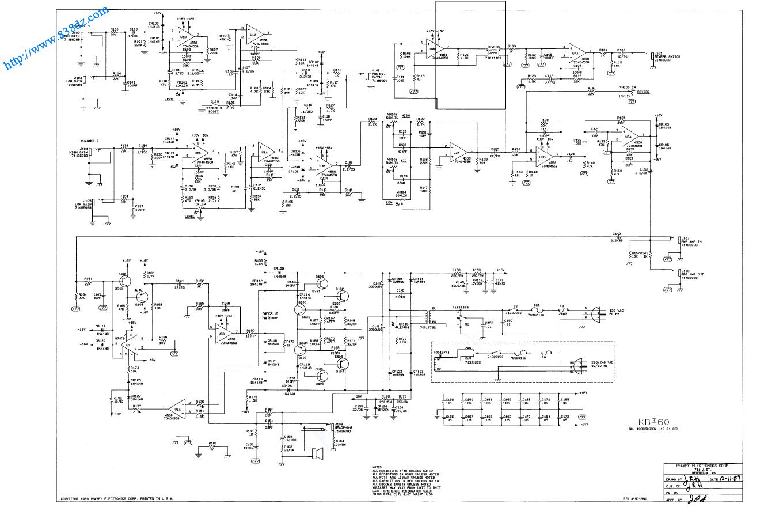 peavey百威 KB60多功能键盘音箱,维修手册