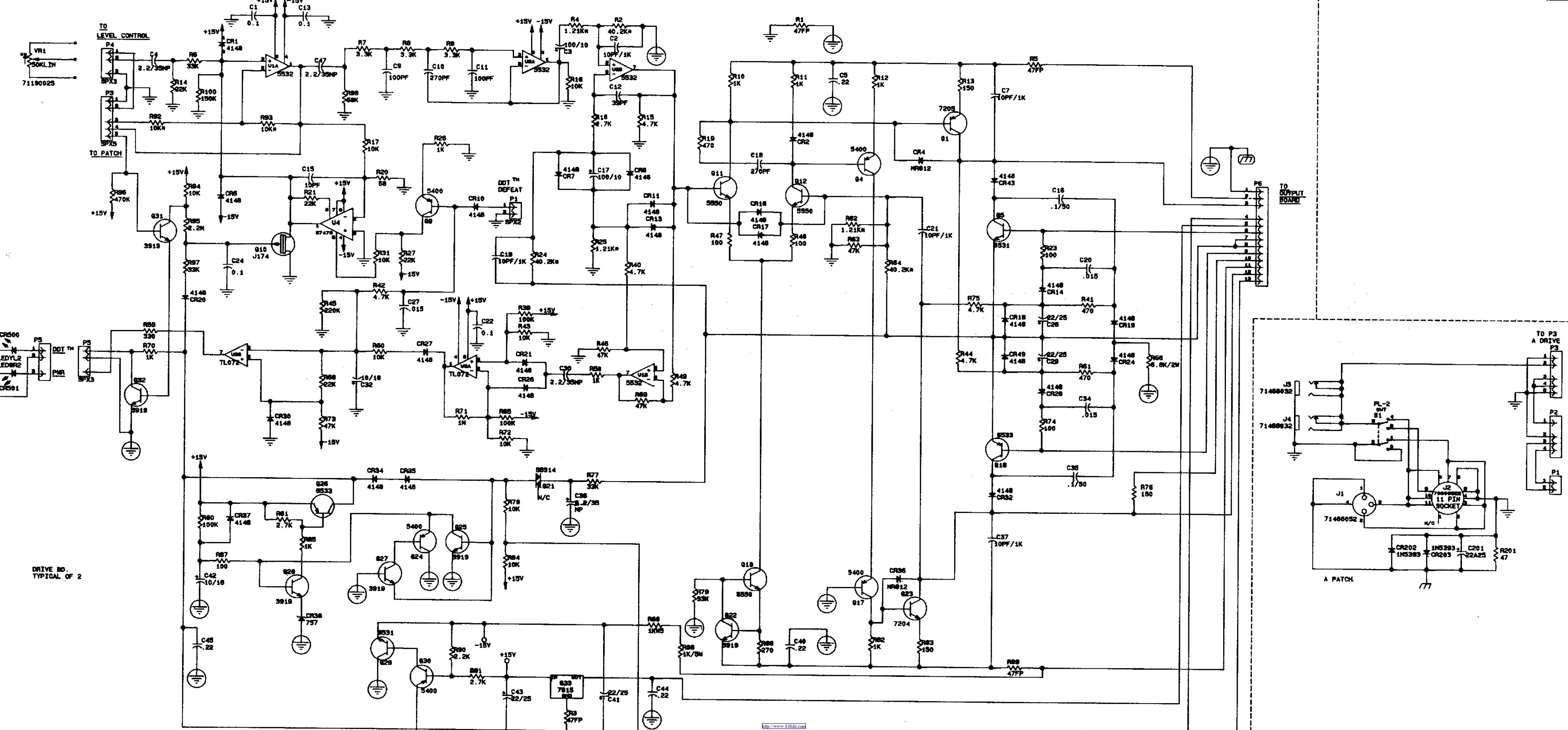 百威peavey cs400x功放维修电路图纸