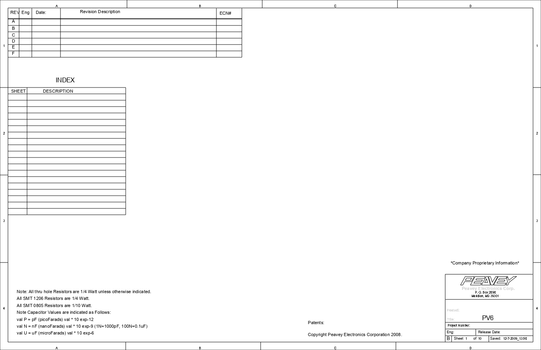 PEAVEY百威 PV6 USB 6路调音台不含电源电路图