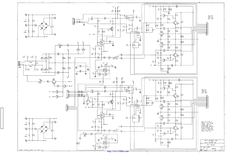 百威 Peavey PV8.5C 功放维修图纸