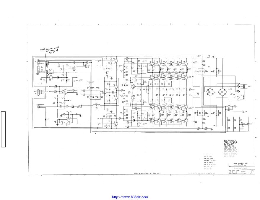 百威peavey cs1800功放维修电路图纸