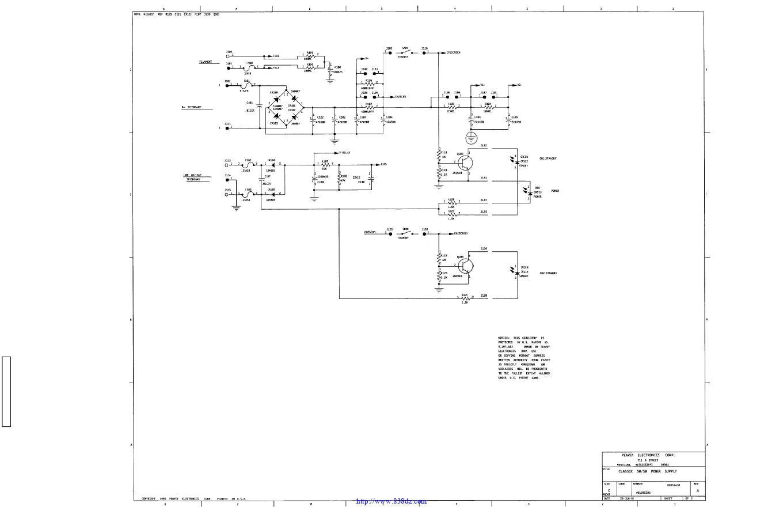 百威peavey classic 50功放维修电路图纸