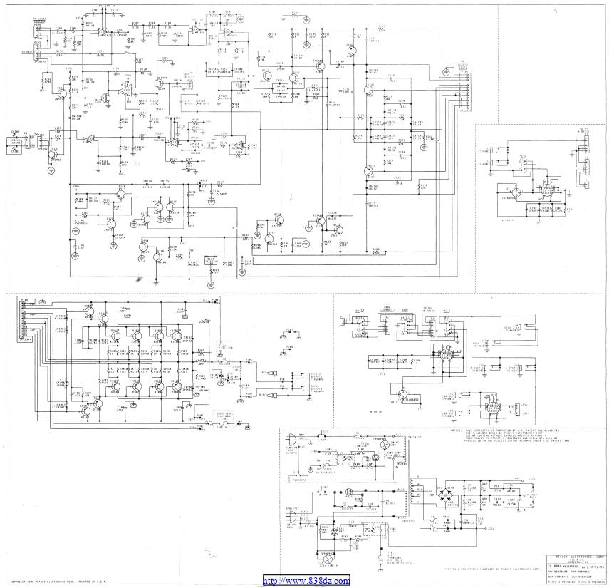 百威peavey cs800x功放维修电路图纸