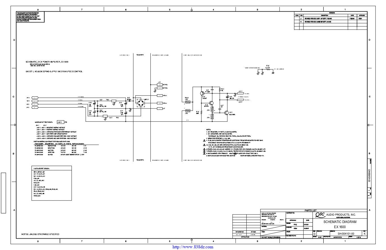 QSC EX 1600功放电路图