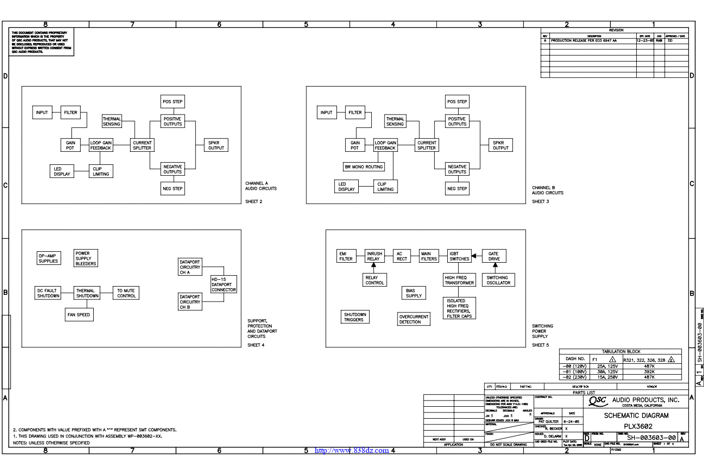 QSC PLX3602功放电路图