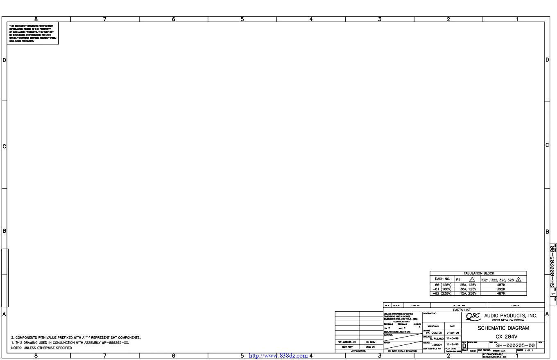 QSC CX204V功放电路图