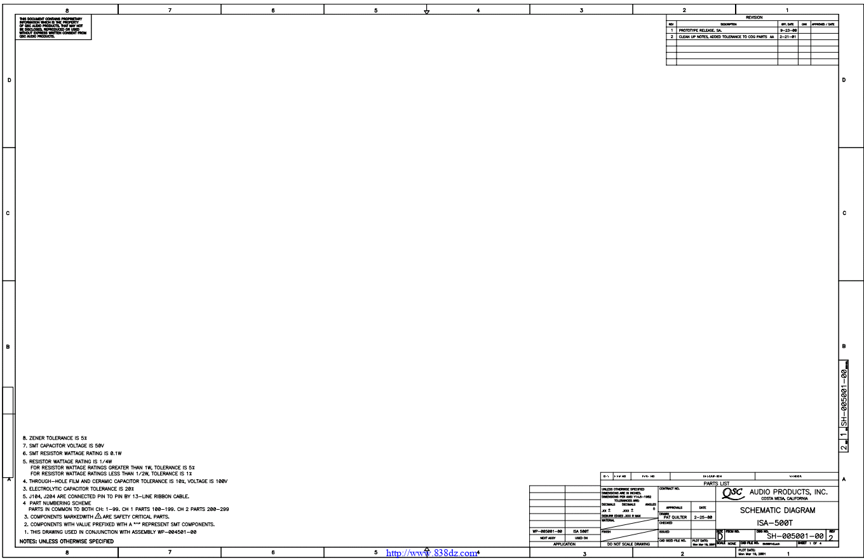 QSC ISA500T功放电路图