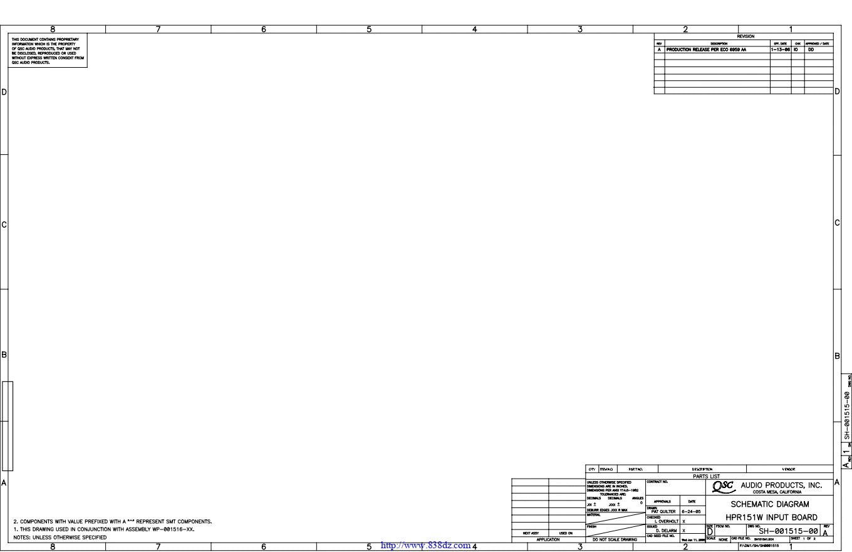 QSC HPR151W有源音箱功放图纸
