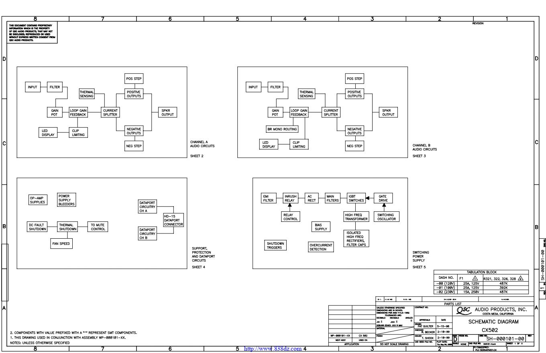 QSC CX502功放电路图