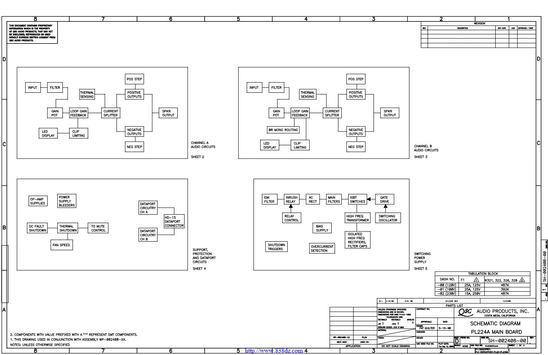 QSC PL224A功率放大器电路图
