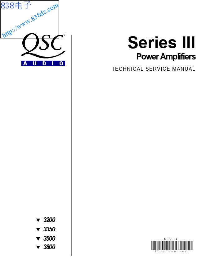 QSC 3500功放维修手册