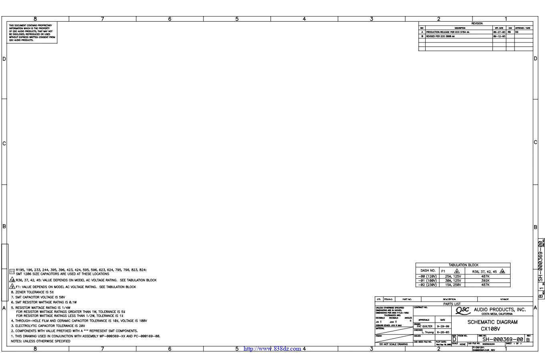 QSC CX108V功放电路图