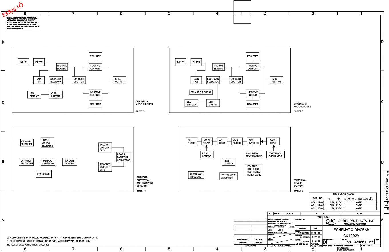 QSC CX1202V功放电路图