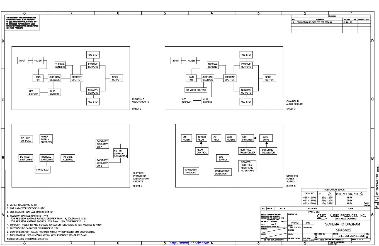 QSC SRA3622功放电路图
