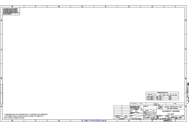 QSC CX254功放电路图