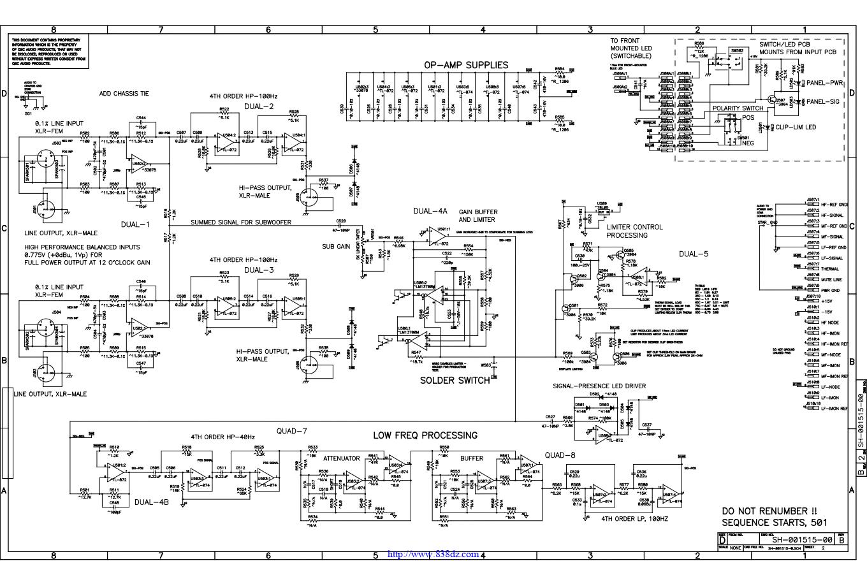 QSC HPR181W有源音箱功放电路图