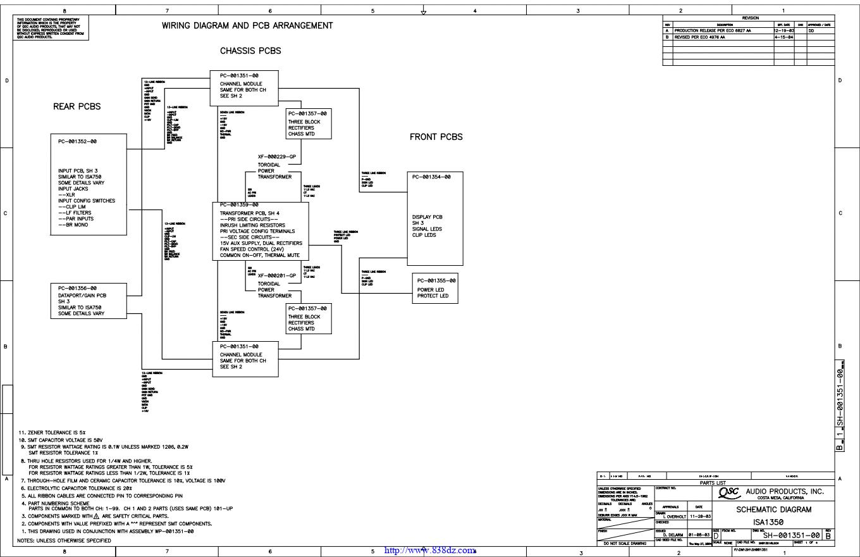 QSC ISA1350功放电路图