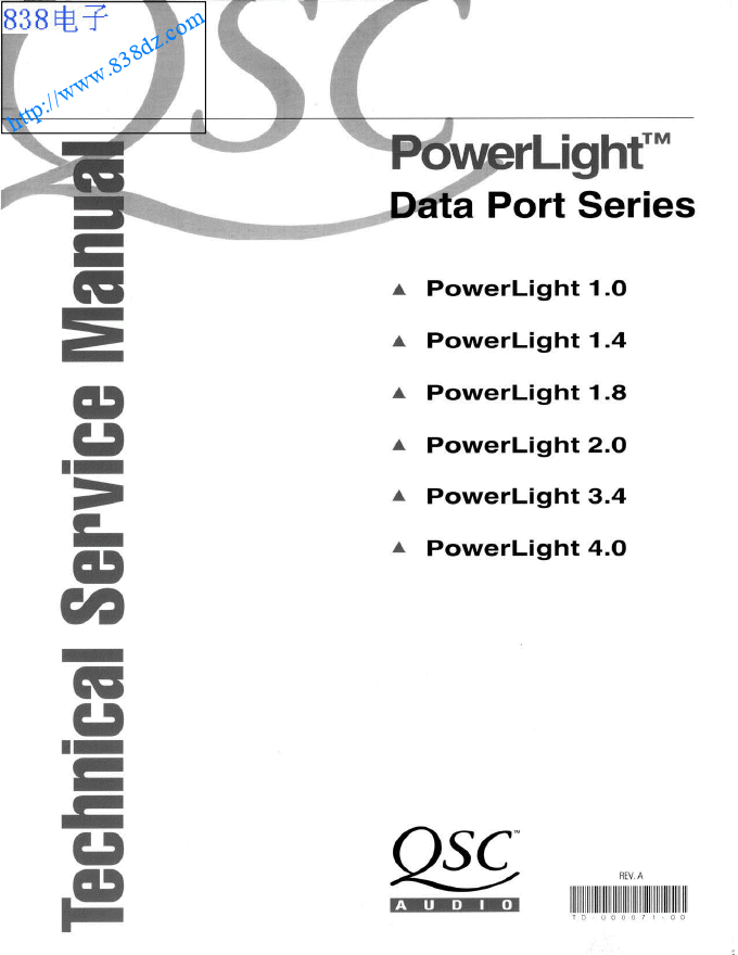 QSC POWERLIGHT 1.4功放维修手册