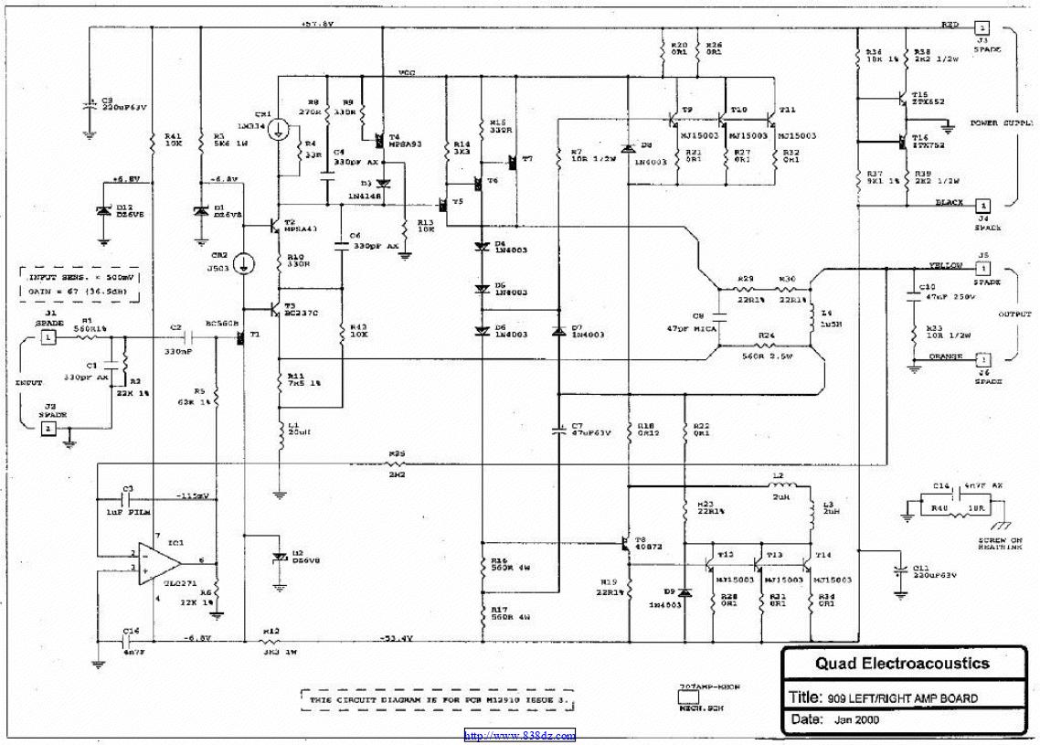 国都Quad 909功放维修电路图