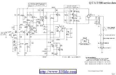 国都Quad 306功放维修电路图