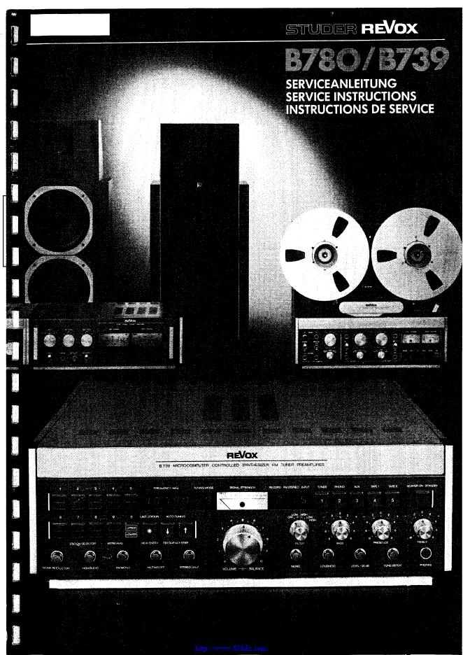瑞华士Revox B780 功放电路图