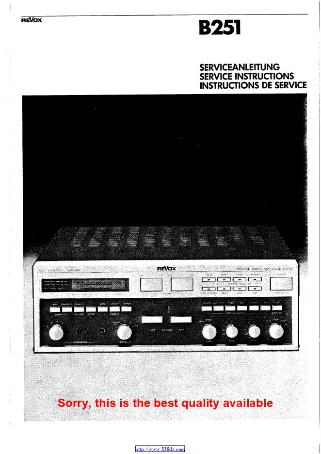 瑞华士Revox B251 功放电路图