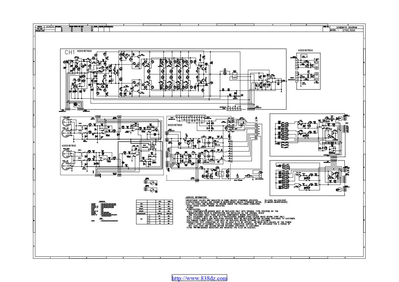 SAMSON山逊 S1000 功放维修电路图