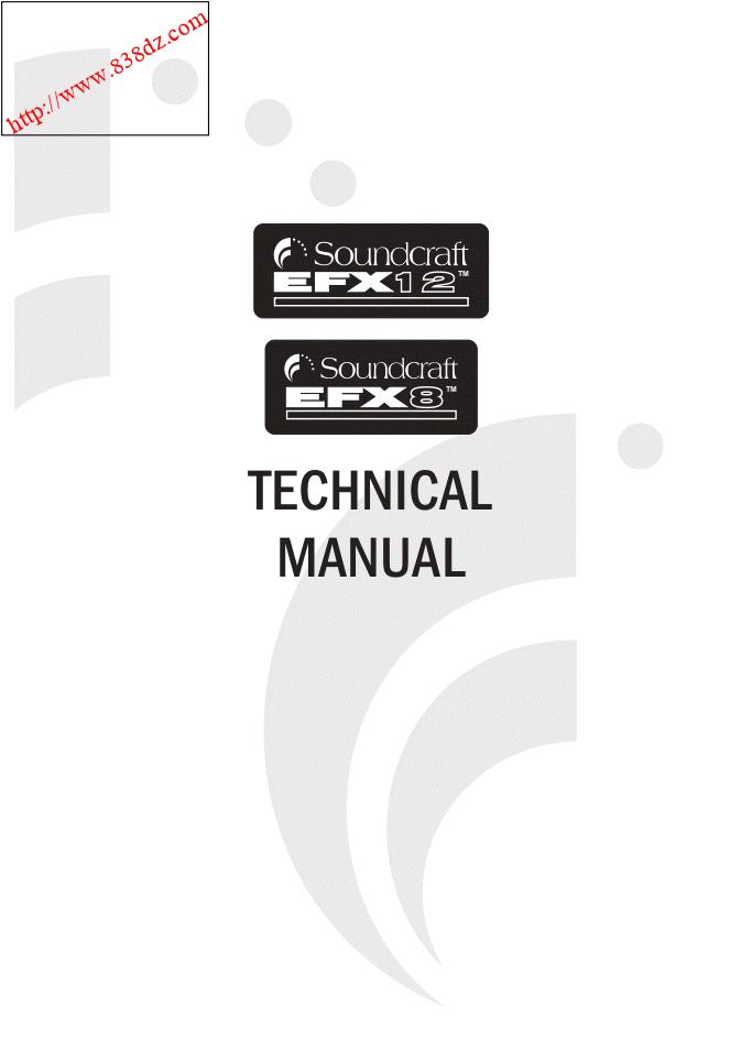 SOUNDCRAFT声艺EFX8 EFX12 调音台维修电路图