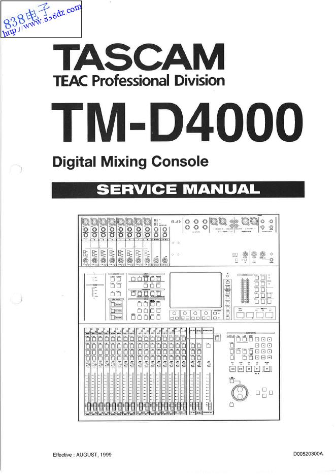 TASCAM TM-D4000数字录音调音台维修手册