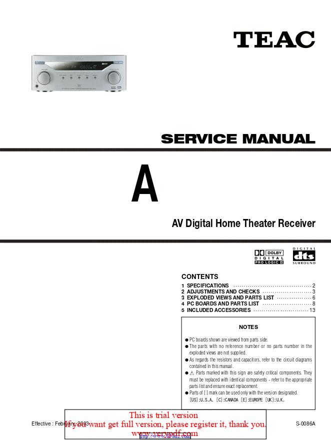 Teac AG-L800功放电路图