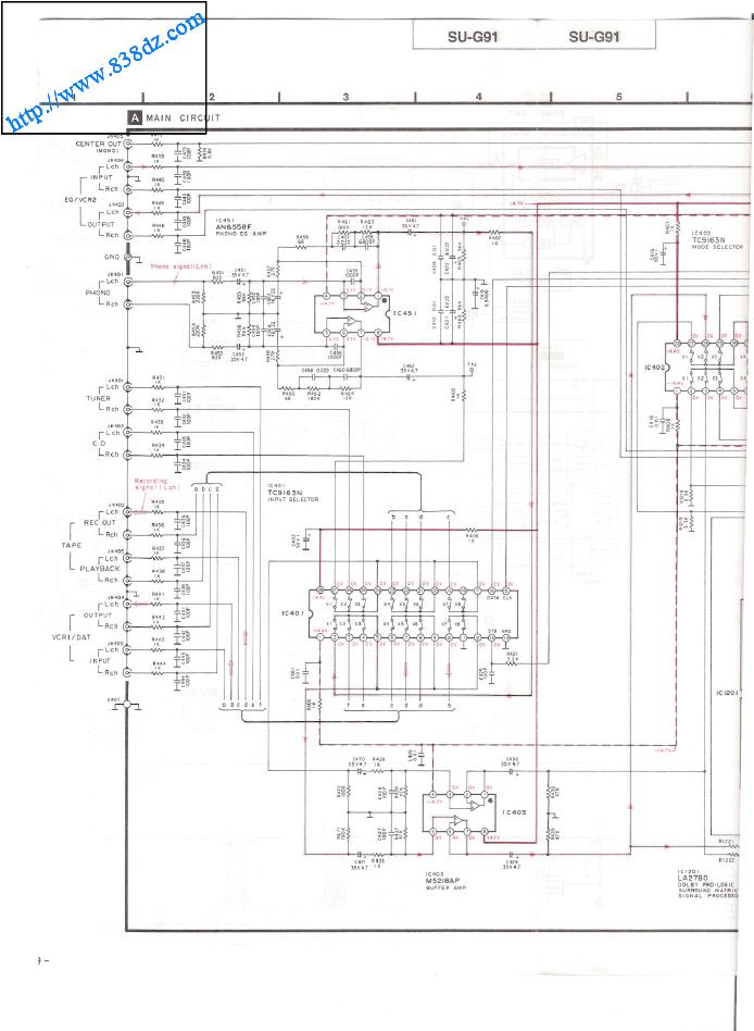 Technics松下 SU-G91音响功放电路图 维修手册