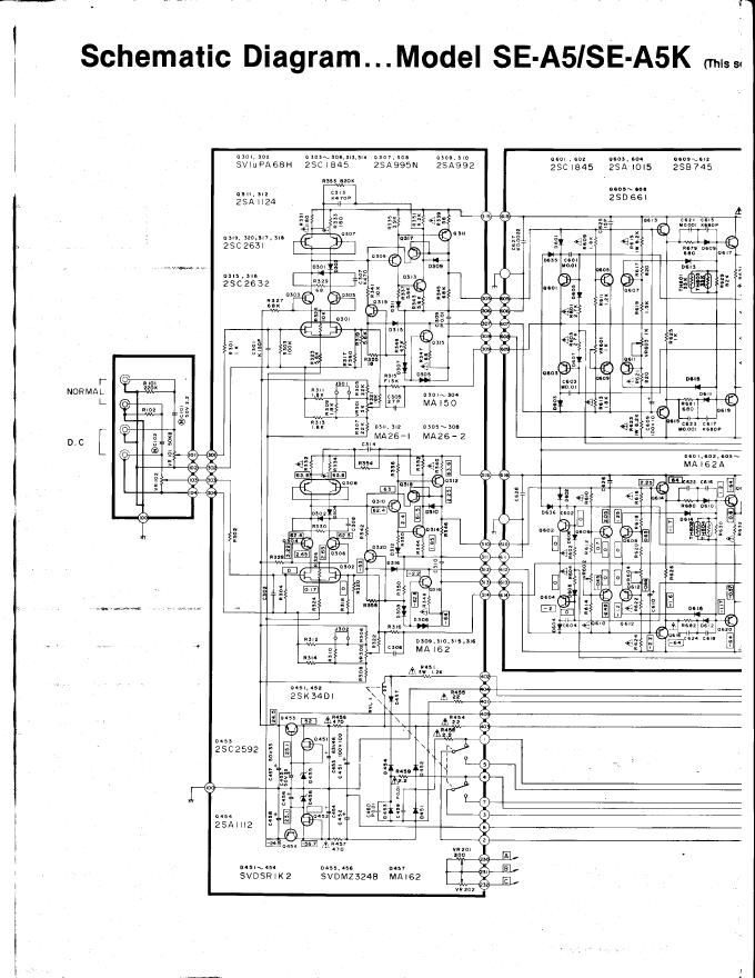 Technics松下SE-A5 SE-A5K功放维修电路图