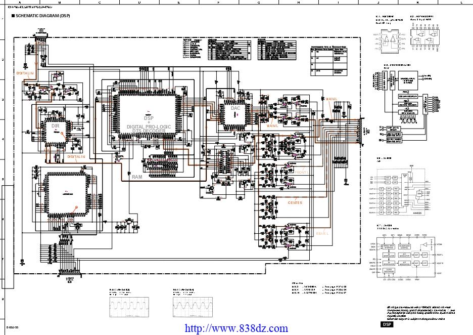 Yamah雅马哈 RX-V795A功放维修电路图纸