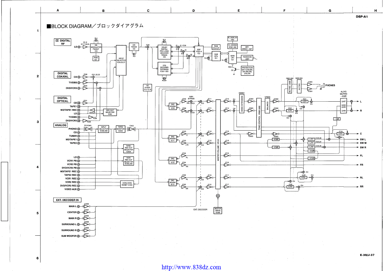 Yamaha雅马哈 DSP-A1功放电路图
