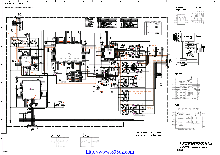 Yamah雅马哈HTR-5170功放维修电路图纸