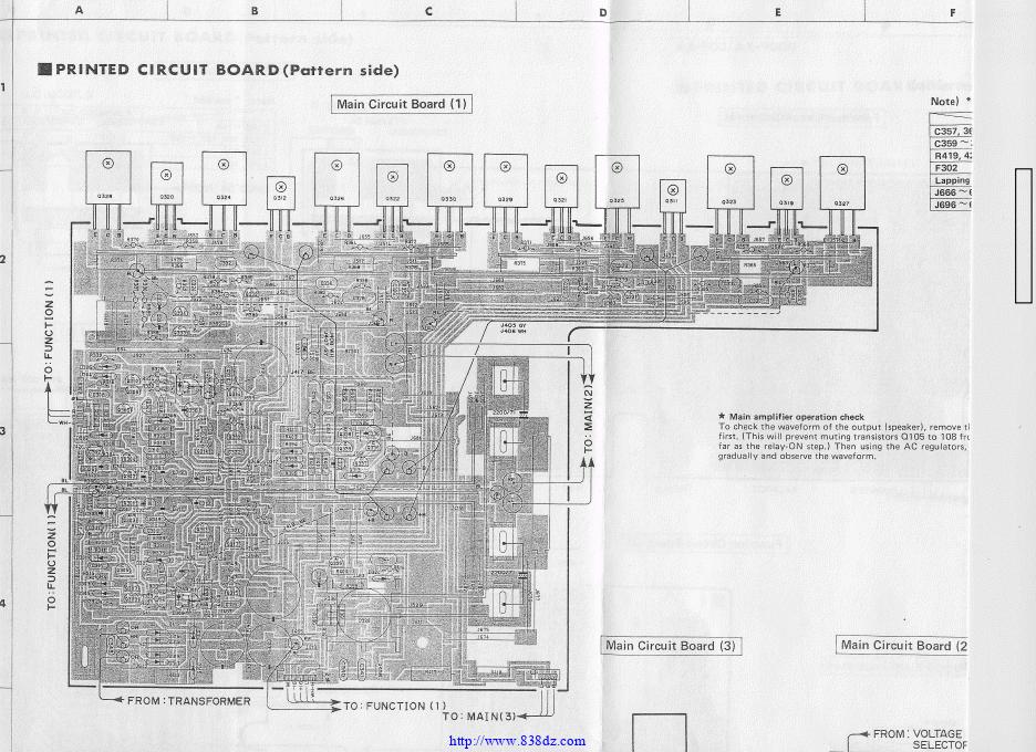 雅马哈yamaha AX-900 AX-900U 功放维修电路图纸