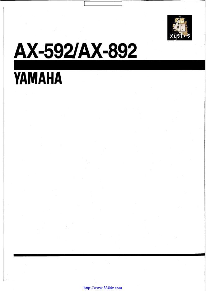 雅马哈yamaha AX-592功放维修手册