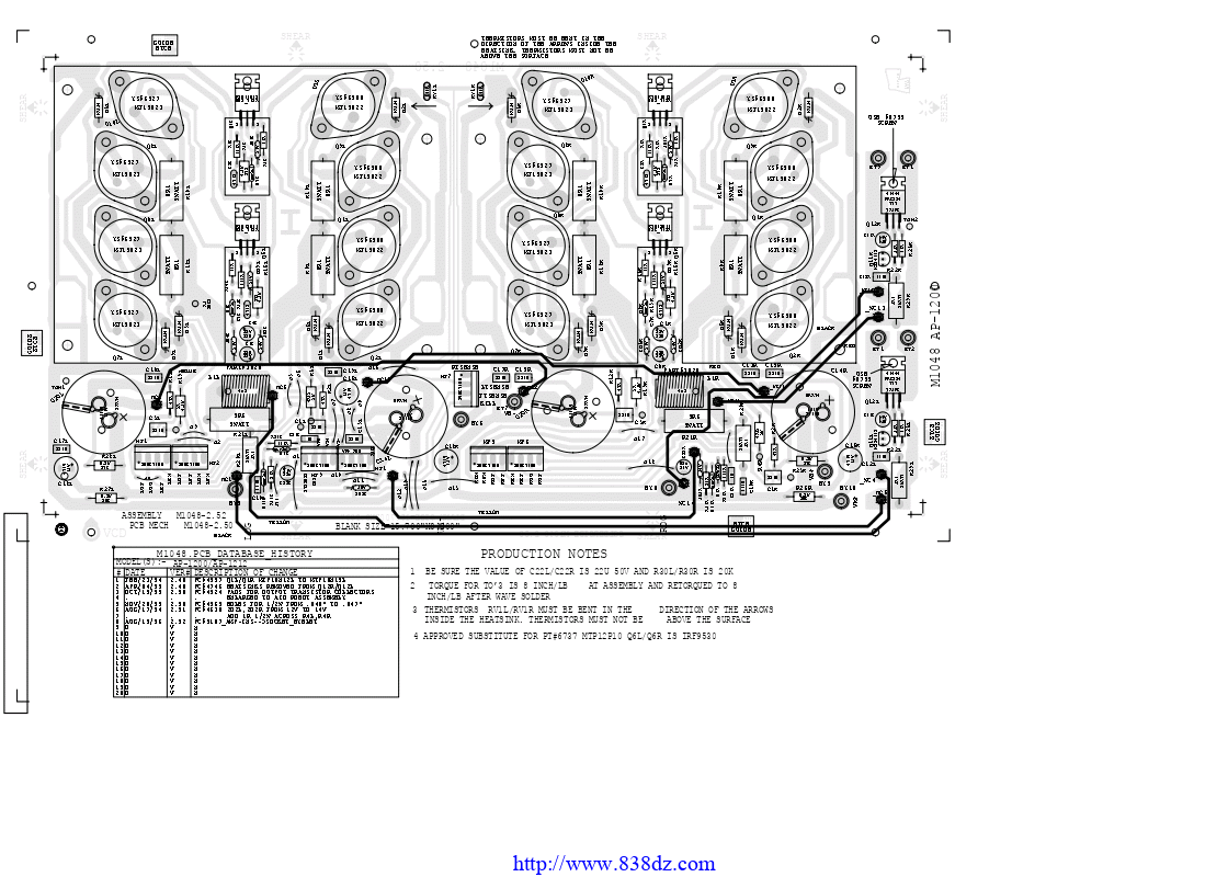 Yorkville威乐 AP1200 AV功放维修电路图纸