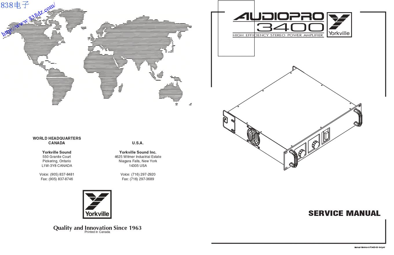 YORKVILLE威乐 AUDIOPRO AP3400功放维修手册