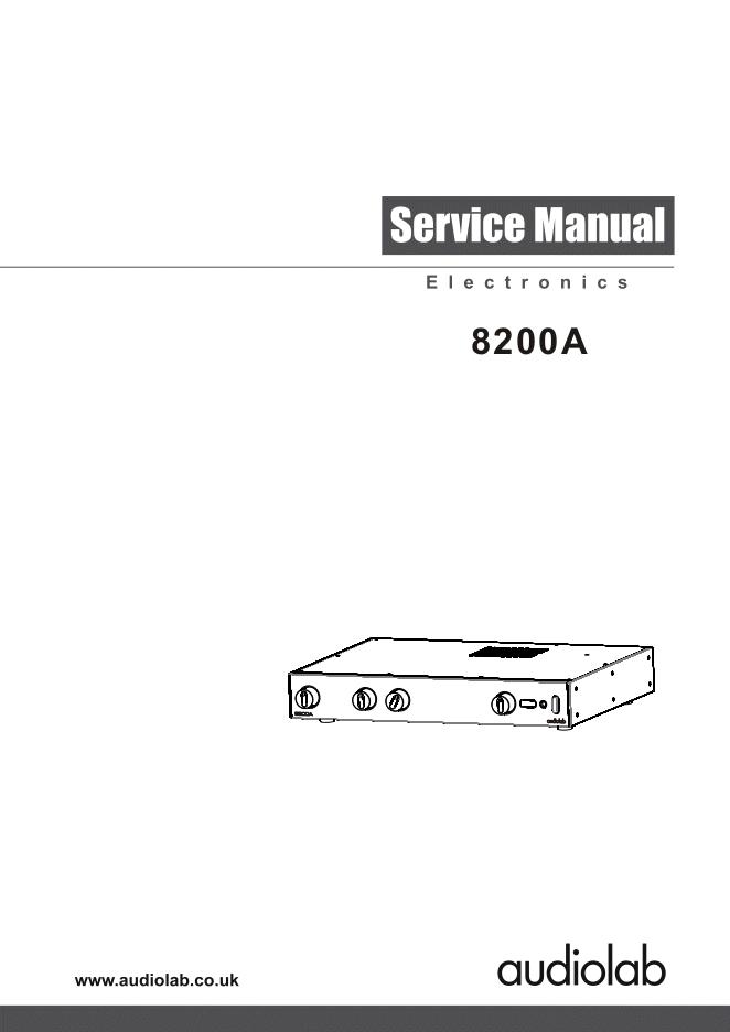 Audiolab 8200A合并式功放维修手册