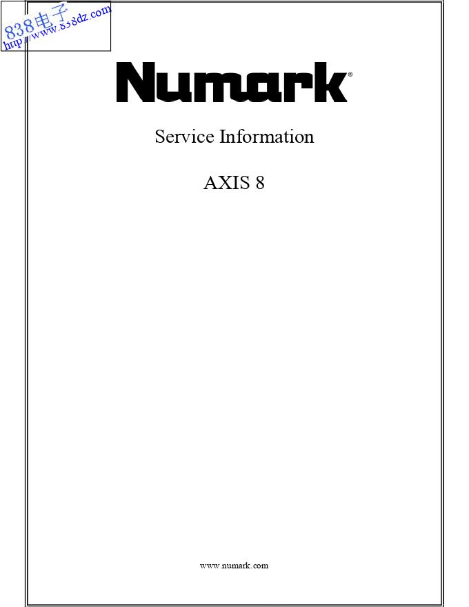 NUMARK露玛AXIS8 CD播放器电路图