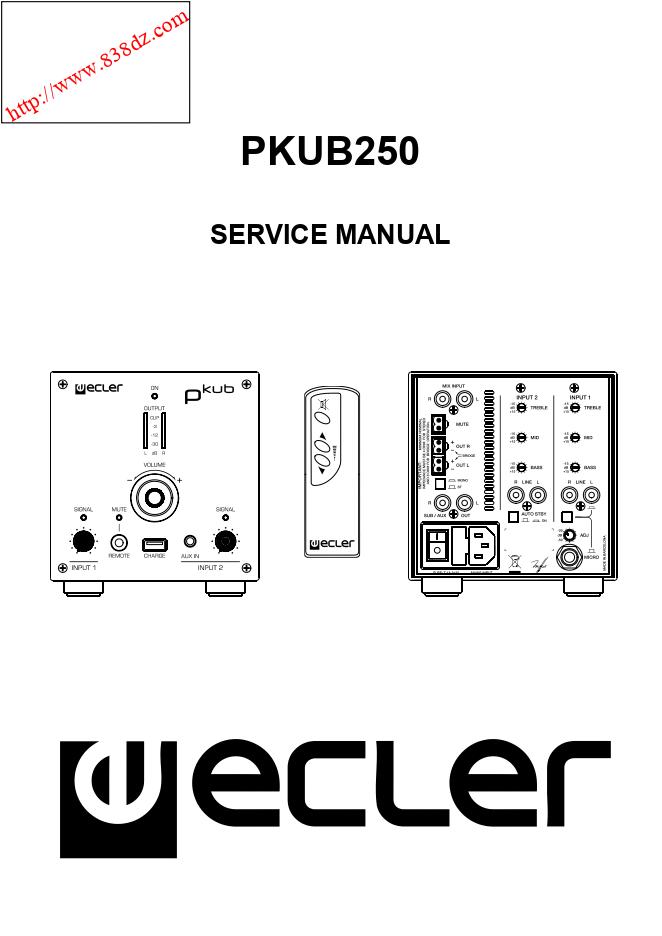ECLER艺格 PKUB250有源音箱维修手册